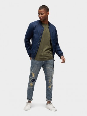 TOM TAILOR DENIM MALE JEANS CON TOPPE E ROTTURE DENIM ELASTICIZZATO