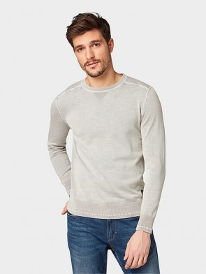TOM TAILOR CASUAL MAN MAGLIA GIROCOLLO STONE WASH