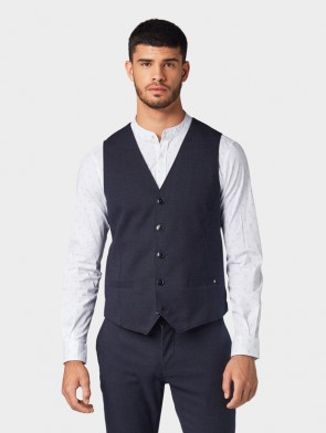 TOM TAILOR CASUAL MAN GILET STRUTTURATO ALL-OVER