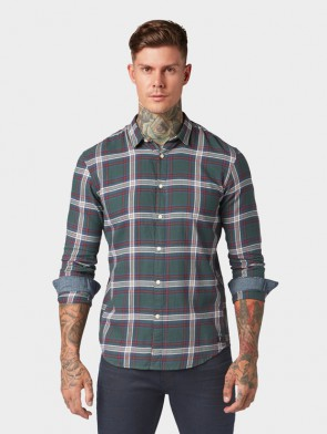 TOM TAILOR DENIM MALE CAMICIA A QUADRI STILE KENT