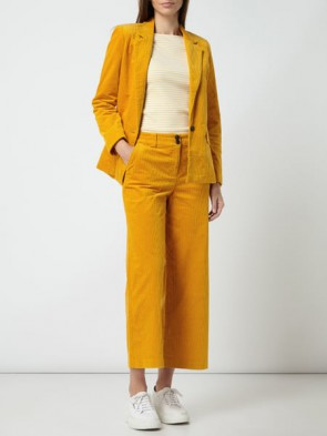 TOM TAILOR CASUAL WOMAN GIACCA IN VELLUTO A COSTE GIALLO OCRA