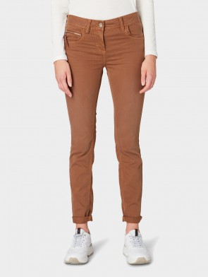 TOM TAILOR CASUAL WOMAN JEANS SLIM ALEXA (MARRONE)