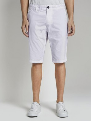 TOM TAILOR CASUAL MAN BERMUDA REGULAR SLIM CHINO (BIANCO)