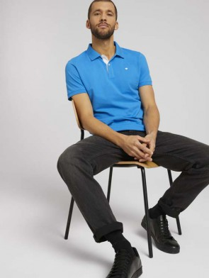 TOM TAILOR CASUAL MAN POLO BASIC IN PIQUE' CONSPACCHI LATERALI