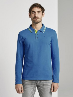 TOM TAILOR CASUAL MAN POLO MANICA LUNGA IN PIQUE'