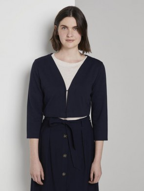 TOM TAILOR CASUAL WOMAN BOLERINO BLU MANICHE 3/4