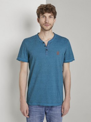 TOM TAILOR CASUAL MAN T-SHIRT A SERAFINO V TURCHESE