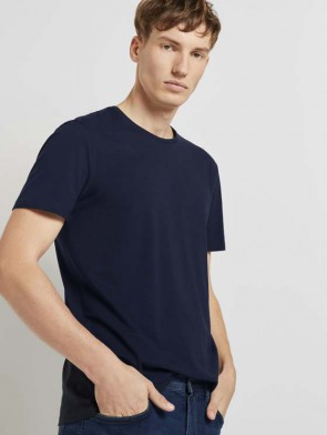 TOM TAILOR DENIM MALE T-SHIRT BASIC IN COTONE BLU