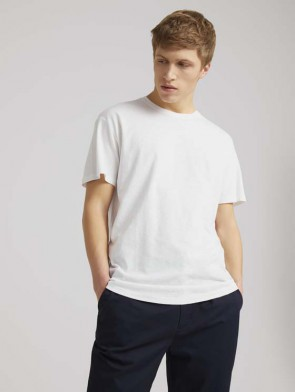TOM TAILOR DENIM MALE T-SHIRT COTONE E LINO BIANCA