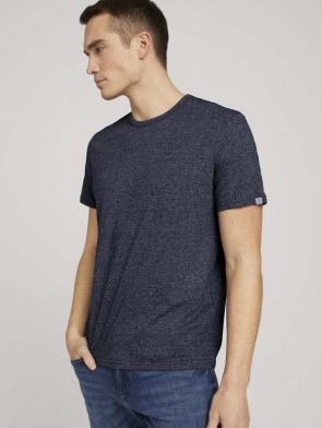 TOM TAILOR CASUAL MAN T-SHIRT TESTURIZZATA (BLU)