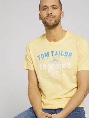 TOM TAILOR CASUAL MAN T-SHIRT CON LOGO IN COTONE