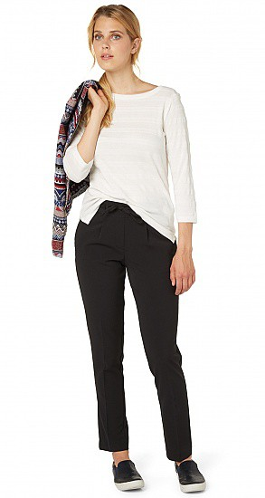 TOM TAILOR CASUAL WOMAN PANTALONE CON ELASTICO ECOLISSE IN VITA